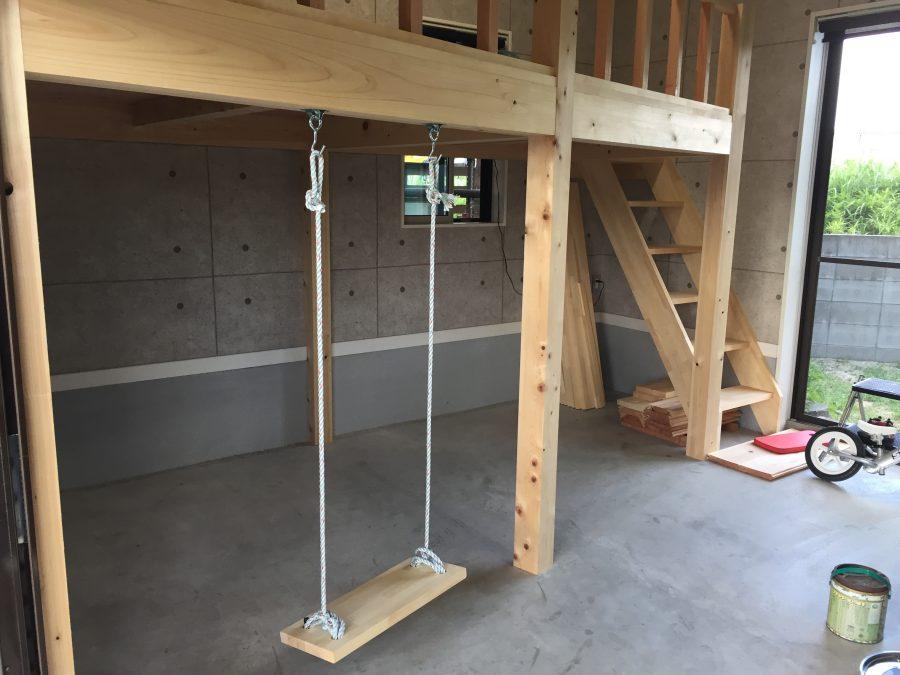 車庫にロフトを造りました2