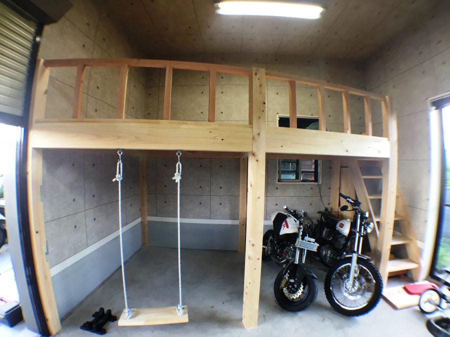 車庫にロフトを造りました1