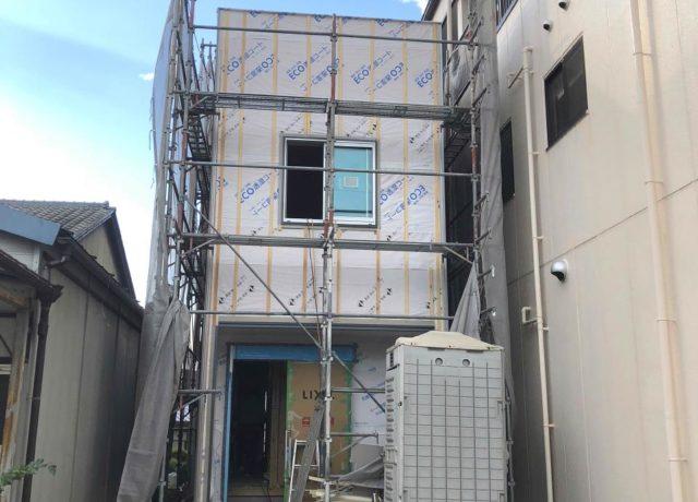 【森下町新築】内壁が貼られました