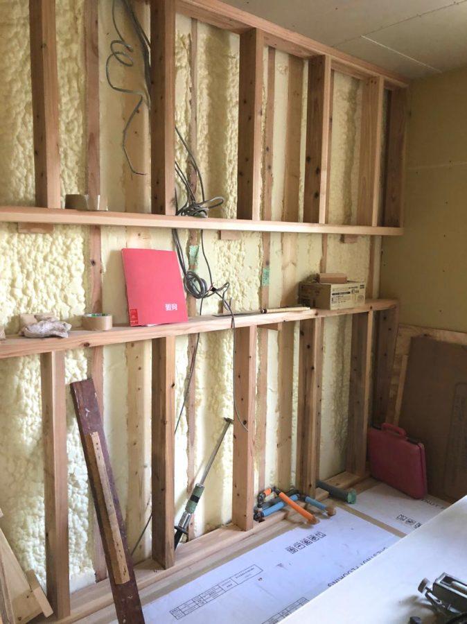 【森下町新築】内壁が貼られました4