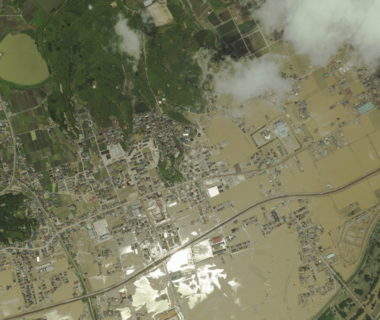 倉敷市真備町の浸水