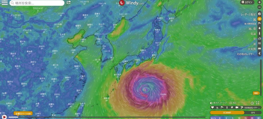 台風19号ハビキスにご用心