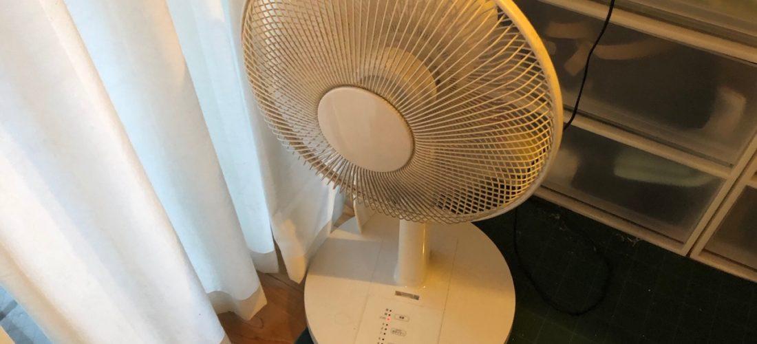 真冬に扇風機